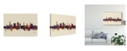 "Trademark Global Michael Tompsett Bradford England Skyline III Canvas Art - 20"" x 25"""