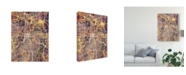 "Trademark Global Michael Tompsett Kansas City Missouri City Map II Canvas Art - 15"" x 20"""