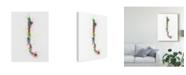"Trademark Global Michael Tompsett Chile Paint Splashes Map Canvas Art - 20"" x 25"""