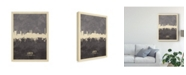 "Trademark Global Michael Tompsett Lubeck Germany Skyline Gray Canvas Art - 15"" x 20"""