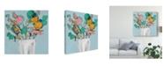 """Trademark Global Jennifer Goldberger Fun Bouquet I Canvas Art - 15"""" x 20"""""""