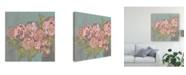 "Trademark Global Jennifer Goldberger Blush Pink Flowers I Canvas Art - 15"" x 20"""