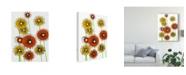 "Trademark Global Regina Moore Flower Wheels I Canvas Art - 20"" x 25"""