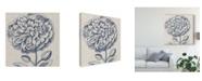 "Trademark Global Vision Studio Indigo Floral on Linen III Canvas Art - 27"" x 33"""