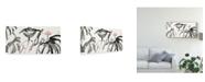 "Trademark Global Nan Rae Lotus Study with Coral I Canvas Art - 37"" x 49"""