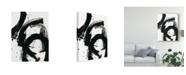 "Trademark Global June Erica Vess Onyx Gesture II Canvas Art - 37"" x 49"""