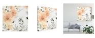 "Trademark Global June Erica Vess Blush Garden I Canvas Art - 15"" x 20"""
