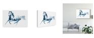 """Trademark Global Julie T. Chapman Sapphire Gallop II Canvas Art - 15"""" x 20"""""""
