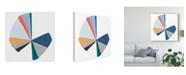 "Trademark Global June Erica Vess Color Wheel I Canvas Art - 15"" x 20"""