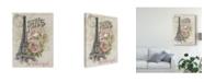 "Trademark Global Jennifer Paxton Parker Paris Sketchbook I Canvas Art - 20"" x 25"""