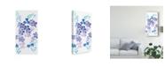 "Trademark Global Regina Moore Amethystine Blooms III Canvas Art - 20"" x 25"""