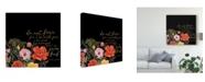 "Trademark Global Studio W Floral Faith III Canvas Art - 15"" x 20"""