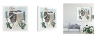 "Trademark Global Victoria Borges Holiday Llama I Canvas Art - 20"" x 25"""