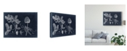 "Trademark Global Vision Studio Foliage on Navy II Canvas Art - 20"" x 25"""