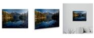 "Trademark Global Pierre Leclerc Jasper Morning Floating Brushed Aluminum Art - 22"" x 25"""