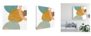 "Trademark Global June Erica Vess Platelet I Canvas Art - 15"" x 20"""