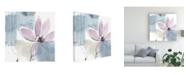 "Trademark Global Jennifer Goldberger Ua Ch Blush Flower Splash VI Canvas Art - 20"" x 25"""