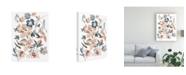 "Trademark Global Chariklia Zarris Martinique Floral I Canvas Art - 15"" x 20"""