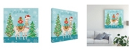 "Trademark Global Mary Urban Lovely Llamas Christmas IX Canvas Art - 20"" x 25"""