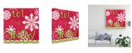 "Trademark Global June Erica Vess Lets Get Jolly VI Canvas Art - 20"" x 25"""