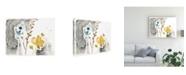 "Trademark Global June Erica Vess Navy Garden Inspiration II Canvas Art - 37"" x 49"""