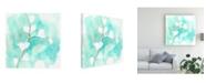 "Trademark Global June Erica Vess Teal and Ochre Ginko VII Canvas Art - 20"" x 25"""