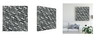 "Trademark Global June Erica Vess Neutral Tile Collection II Canvas Art - 15"" x 20"""