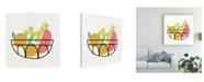 "Trademark Global Chariklia Zarris Fruitilicious IV Canvas Art - 15"" x 20"""