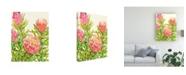 "Trademark Global Tim Otoole Watercolor Tropical Flowers II Canvas Art - 20"" x 25"""