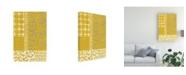 "Trademark Global Chariklia Zarris Golden Block Print II Canvas Art - 37"" x 49"""