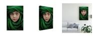 "Trademark Global Saeed Dhahi Green Boy Canvas Art - 20"" x 25"""