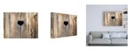 "Trademark Global Brooke T. Ryan Heart in Wood Canvas Art - 19.5"" x 26"""