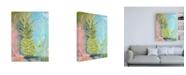 "Trademark Global Kym De Los Reyes Chartreuse Pineapple Canvas Art - 15.5"" x 21"""