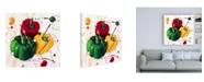 """Trademark Global Roderick Stevens Three Peppers Canvas Art - 36.5"""" x 48"""""""