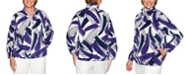 Alfred Dunner Classics Printed Fleece Jacket