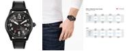 Citizen Eco-Drive Men's Chandler Black Leather Strap Watch 42mm