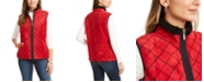 Karen Scott Sport Printed Sherpa-Trim Vest, Created for Macy's
