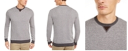 Tasso Elba Men's Colorblocked Whistle Patch Birdseye Sweater, Created for Macy's