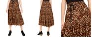 Style & Co Petite Cheetah-Print Midi Skirt, Created For Macy's