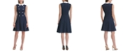 Tommy Hilfiger Crepe-Collar Fit & Flare Dress