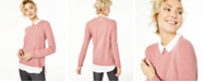 Charter Club Cashmere Embellished Layered-Look Sweater, Regular & Petite Sizes, Created for Macy's