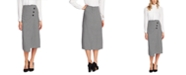Vince Camuto Houndstooth Button-Up Skirt