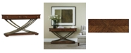 Furniture Palisade Cross Base Console Table