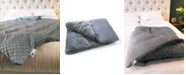 Huggaroo Plush and Extra Fluffy Duvet & 15 lbs Weighted Blanket Set - One Size