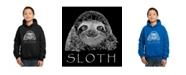 LA Pop Art Boy's Word Art Hoodies - Sloth