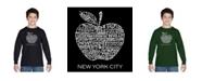 LA Pop Art Boy's Word Art Long Sleeve - Neighborhoods in NYC