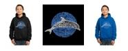 LA Pop Art Boy's Word Art Hoodies - Species of Dolphin
