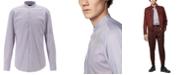 Hugo Boss BOSS Men's Jordi Slim-Fit Stand-Collar Easy-Iron Cotton Shirt