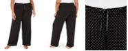Hue Plus Size Dot-Print Pajama Pants