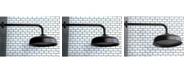 Kingston Brass Trimscape 10-Inch Shower Head with 17-Inch Ceiling Mounted Shower Arm in Oil Rubbed Bronze